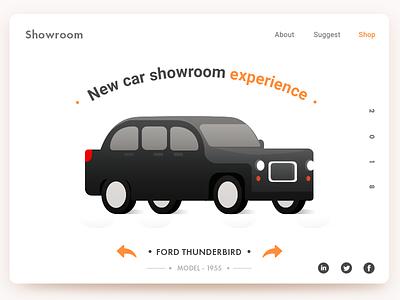 Showroom pakistan arslan showroom web design landing page illustration car new concept
