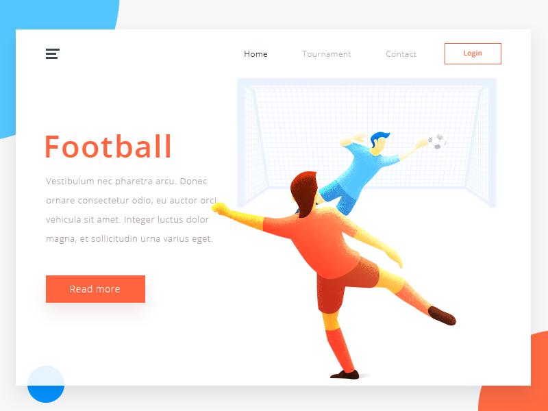 Soccer goal soccer illustration page landing design web arslan pakistan