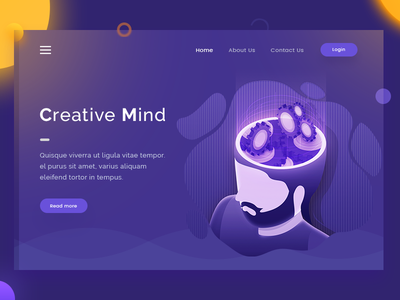 Creative Mind mind creative illustration page landing design web arslan pakistan