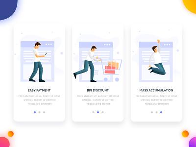 Online Store app concept online store mobile app design page illustration arslan pakistan