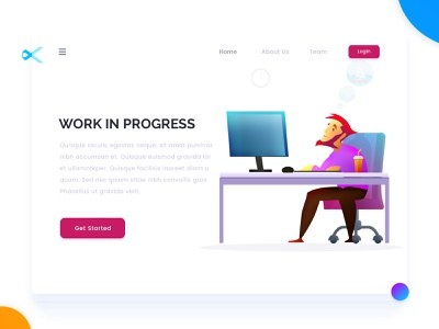 Work In Progress work in progress concept landing web design page illustration arslan pakistan