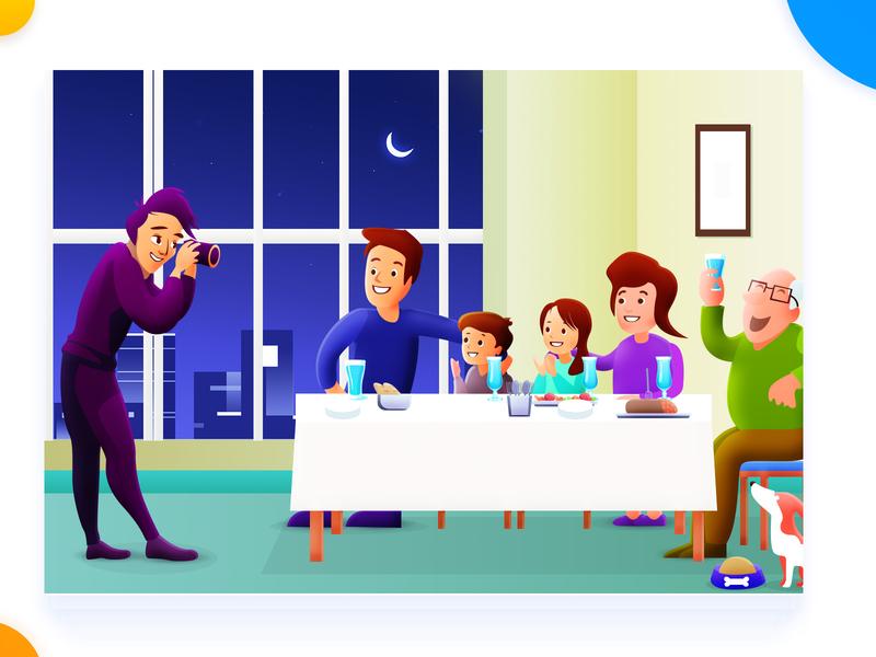 Happy Family family happy concept page design illustration arslan pakistan