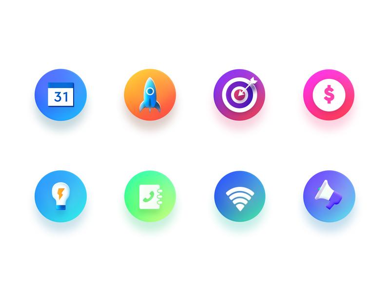 Icon Set#1 icon set idea wifi rocket calender icon concept arslan pakistan