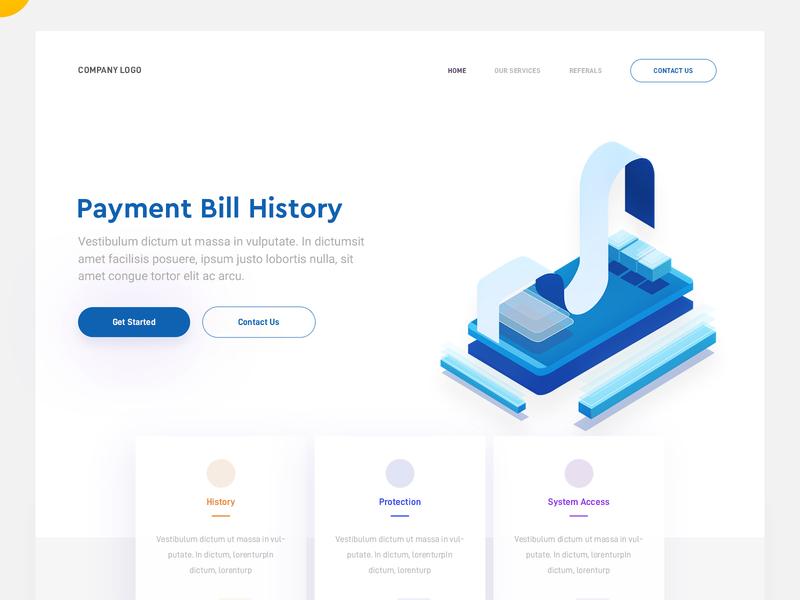 Payment Report bill report payment concept landing web page design illustration arslan pakistan