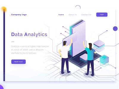 Data Analytics vector ui practice concept landing page web design arslan illustration pakistan