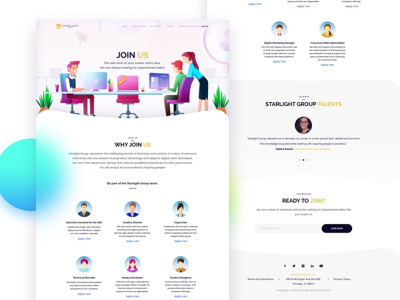 Join Us pakistan arslan illustration completed behance project behance webdesign page web