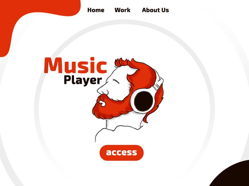 Music home page illustration websites webdesign website uidesigns uiux freelancer homepage landingpage uidesign