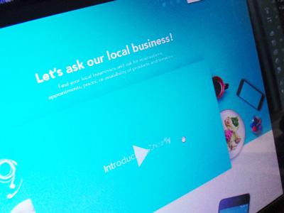 Landing Page - Ongoing blue cyan cover hero image web design landing page