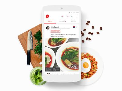 Hifoodies - Mobile App Design Prototype claudiofrs hifoodies android user interface mobile app design social media culinary food