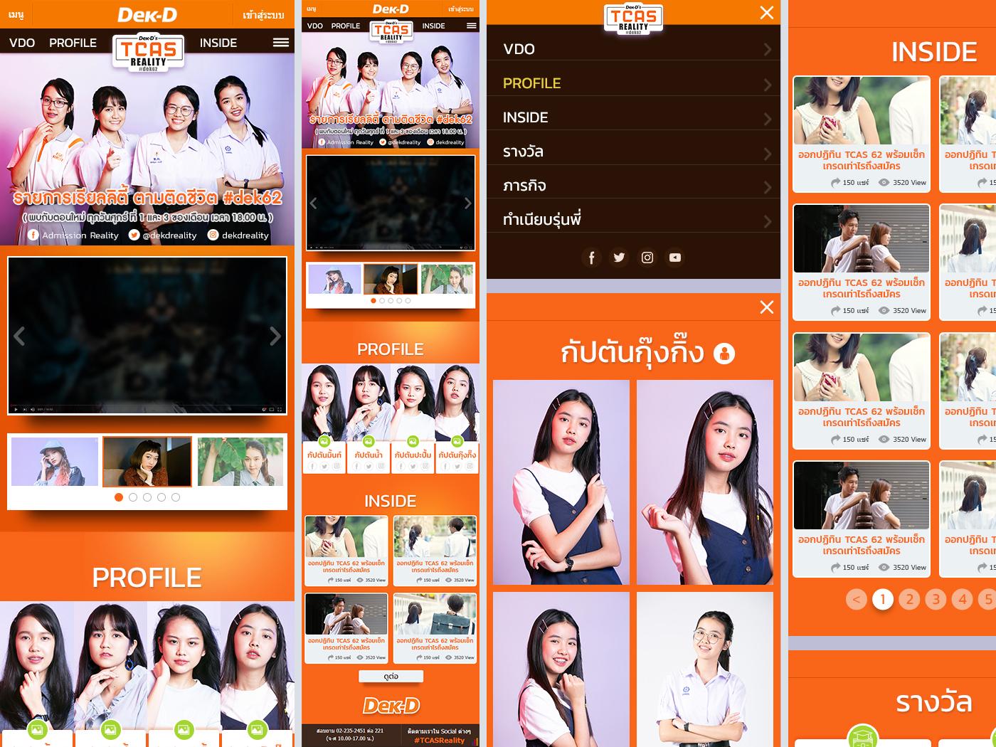 Tr Web Reality ( mobile ) art direction creative direction graphic designer retouching ui ux web design mobile