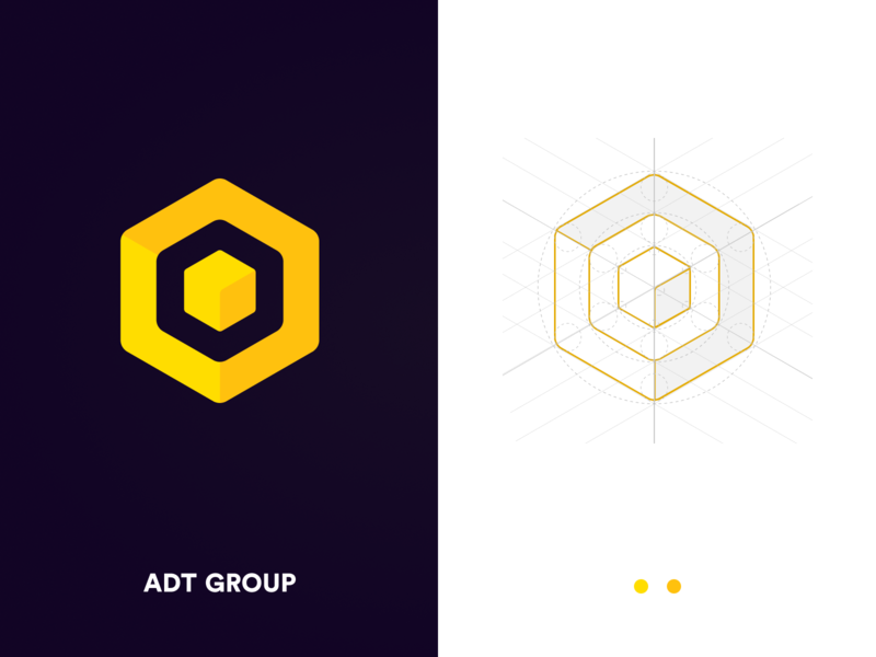 Logo ADT GROUP icon design illustration vector logo