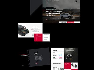 Protective coating center automobile auto ux design logo branding web ui