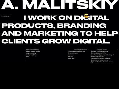 Personal website concept. designer resume designer portfolio ux web design ui