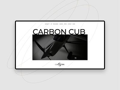 Carbon Cub web design branding website web design aircraft fly