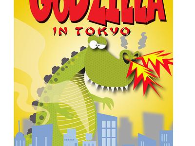 Godzilla Comic Book photoshop illustration humour humor character cartoon