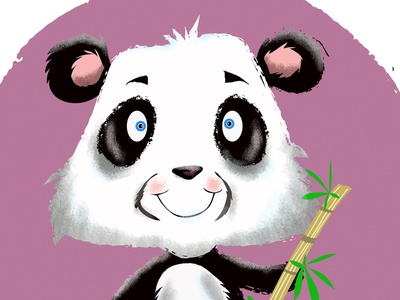 Panda Character Design vector design photoshop illustration humour humor character cartoon
