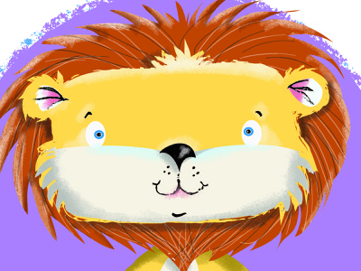 Lion Character Design illustrator design photoshop humour illustration character humor cartoon