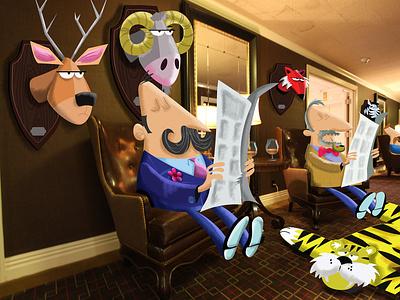 The Club Illustration photography illustrator vector photoshop humour illustration character humor cartoon