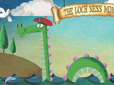 Loch ness Monster Postcard Illustration illustrator design vector photoshop illustration humour humor character cartoon