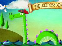 Loch ness Monster Postcard Illustration