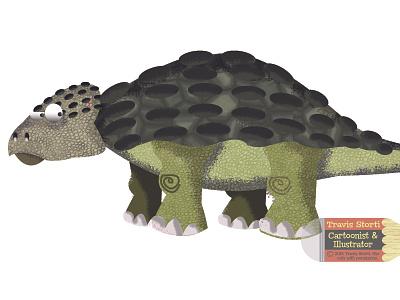 Ankylosaurus Illustration dinosaurs dinosaur illustrator design vector photoshop illustration humour character humor cartoon
