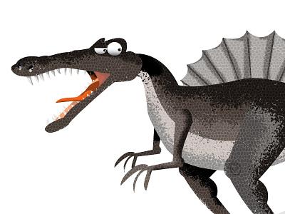 Spinosaurus Illustration dinosaur dinosaurs illustrator design vector photoshop illustration humour humor character cartoon