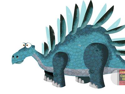 Kentrosaurus Illustration dinosaurs dinosaur illustrator design vector photoshop illustration humour humor character cartoon
