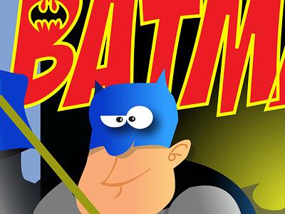 Batman Retro Comic Cover illustrator design vector illustration humour humor character cartoon