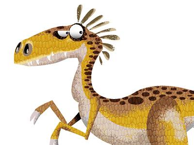 Utharaptor dinosaurs dinosaur illustrator design vector photoshop illustration humour humor character cartoon