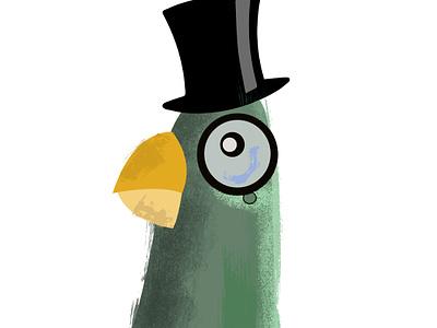 Sir Pigeon illustrator design vector photoshop illustration humour humor character cartoon