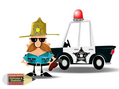 The Sheriff police illustrator design vector photoshop illustration humour humor character cartoon