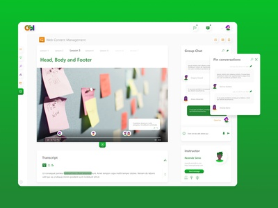 Video course platform - Educational dashboard