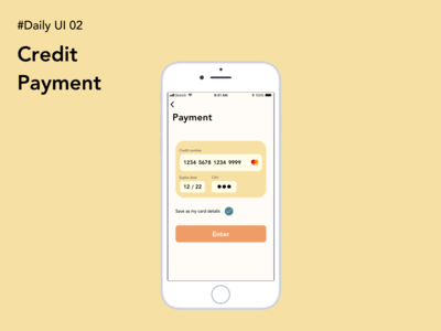 Daily UI Challenge 002: Credit payment