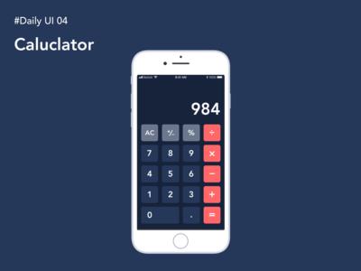 Daily UI Challenge 004: Caluclator