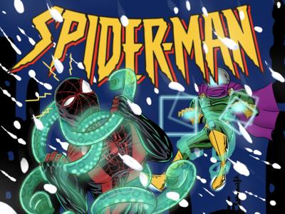 Miles Morales Spiderman vs  Mysterio