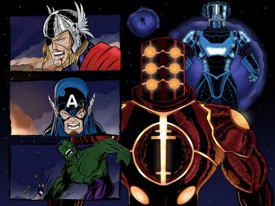 Celestials vs Avengers