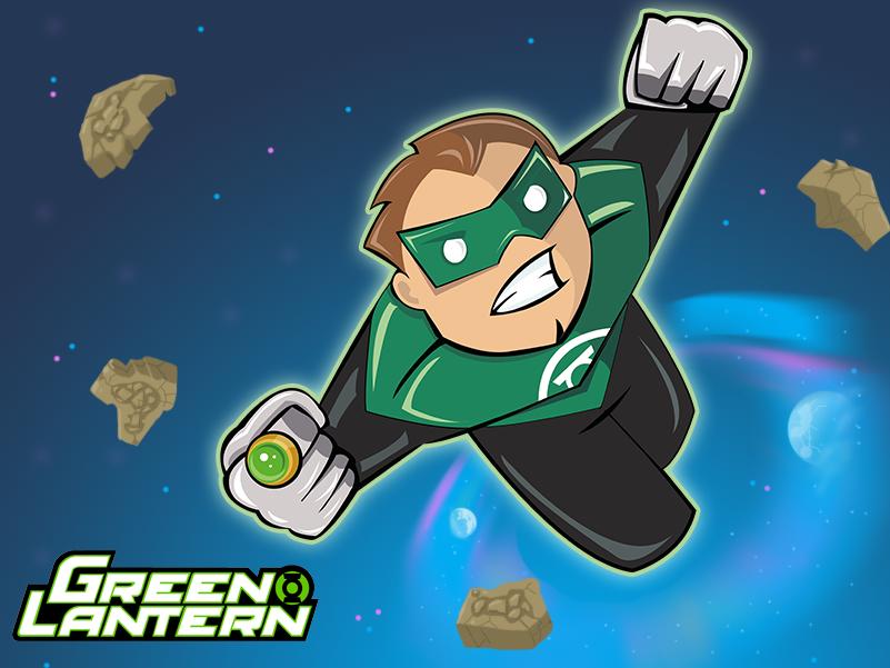 Green Lantern photoshop vector art kids comics dc graphic design digital art creative character 2d cute vector adobe illustrator adobe illustration
