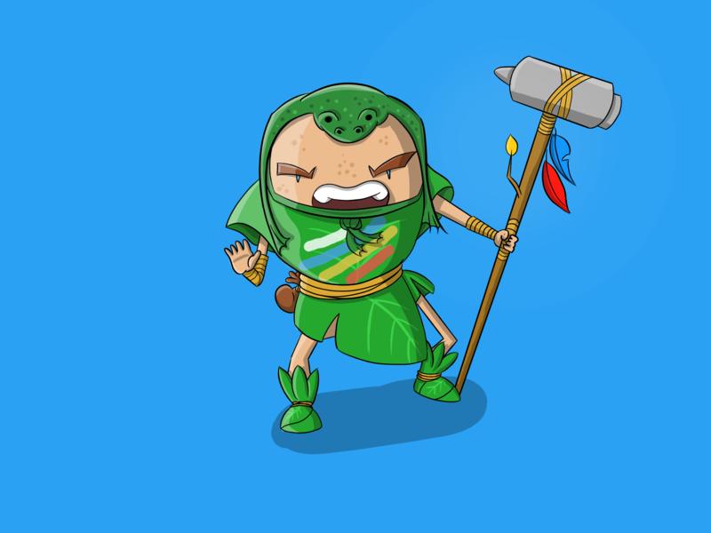 Frogman, lets get nuts! drawing character creative artwork cute design ipad pro 2d autodesk sketchbook illustration