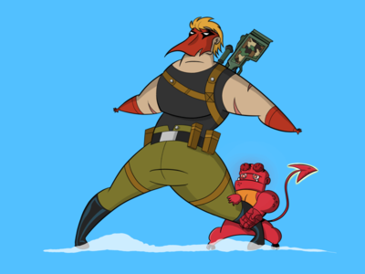Grifter and Hellboy