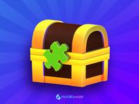 Jigsaw Puzzle Treasure Chest icon ui game illustration puzzles treasure map treasure chest cinema 4d 3d puzzle jigsaw puzzle jigsaw