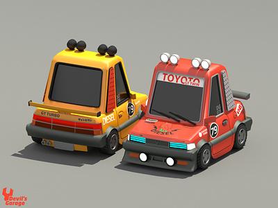 Speed Racer vehicles retro cinema 4d 3d modeling cinema4d design illustration 3d lowpoly low poly