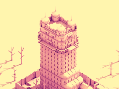 Tenpenny Tower  tenpenny tower low poly isometric 3d buildings architecture