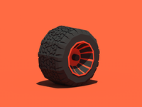 Vulcanized Low Poly Tire
