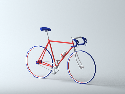 I want to ride my bicycle racing bike ride cinema4d low poly realistic tires speed racer cycle 3d modeling lowpoly bicycle