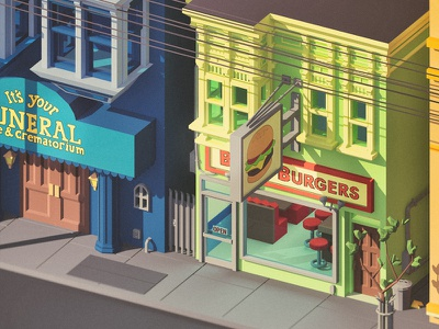 Best burger in town! gene tina louise bob lynda bobs burger low poly 3d burgers tvshows bobsburger lowpoly