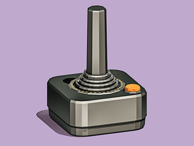 Classic Controller low poly videogames lowpoly 3d console controller atari design illustration