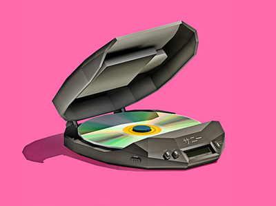 High Fidelity Music On The Go audio portable retro electronics music 3d low poly lowpoly design illustration