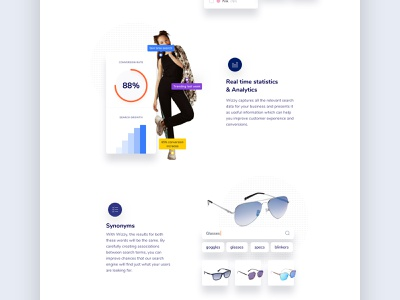 Wizzy Features Page ai tool ecommerce design ai design branding design icongraphy uidesign ui