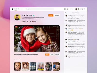 Social Token - Live Streaming videosharing photosharing redeem livestreaming uxdesign 24designstudio sketchapp social platform ui design ux ui