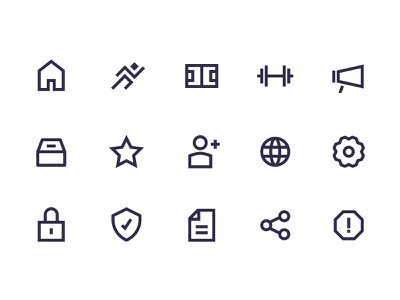 Sports game Application -  Iconography sport icons uxdesign visual design 8px grid iconography